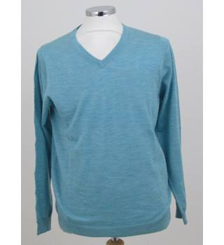 NWOT M&S Collection size: L turquoise crew neck jumper