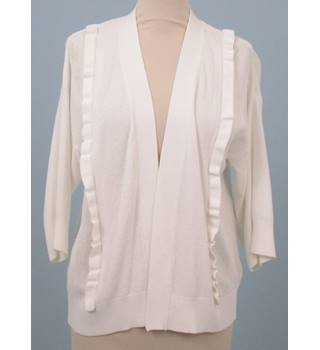 NWOT - Per Una - UK 10 - Soft White Textured Cardigan