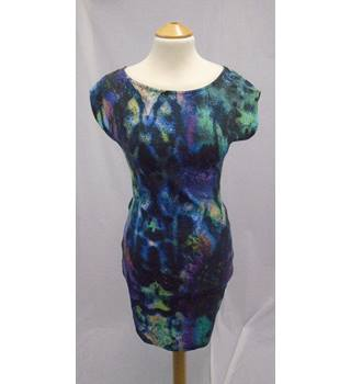 River Island BNWT - Size 8 - Purple Print Stretchy Dress