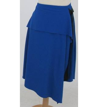 NWOT M&S Marks & Spencer Collection Size: 12 Blue Wrap Skirt