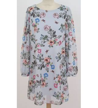 Primark Size: 12 Pale Blue with Floral Detail Dress