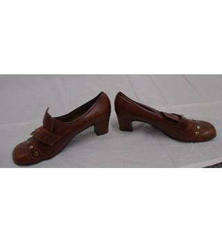 Vintage JOB LOTT 3 Pairs c70s Shoes Unbranded - Size: 5.5 - Brown
