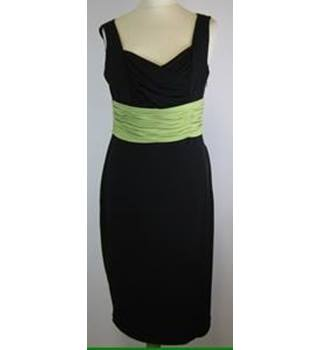 Precis Petite Size: 12  Black and Green Sleeveless Dress