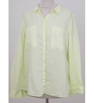NWOT M&S - Size: 16 - Yellow Linen Shirt