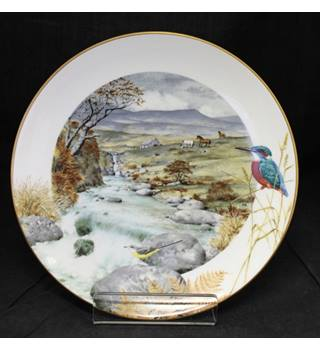 Royal Worcester / Franklin Porcelain - A Secluded Stream in November - Plate