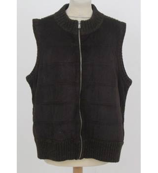 Liz Claiborne - Size: L - brown sleeveless cardigan