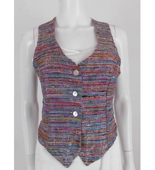 Vintage 1990's - Transmission London - Size: 12 - Multi-coloured - 70% Silk - Waistcoat