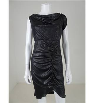 Alice by Temperley Size 10 Metallic Cowl Neck Dress