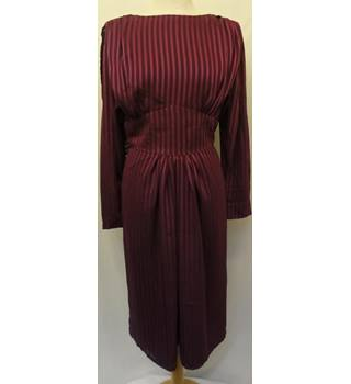 Unbranded - 80's Purple & Pink Vertical Striped Evening Dress