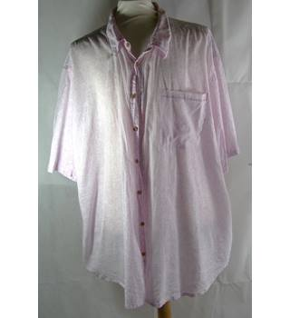 Williams & Brown Size 4XL Pink with Subtle White Floral and White Check Shirt