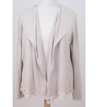 NWOT M&S Classic - Size: 16 - Neutral Beige -  Waterfall Cardigan