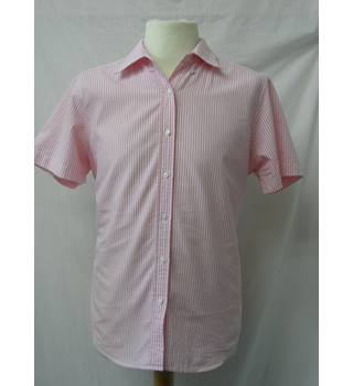 Lands' End - Size 12 - Pink and white striped shirt