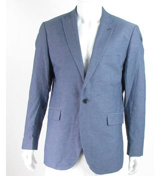 "Riess - Size: 42"" - Cornflower Blue - Single breasted suit jacket"