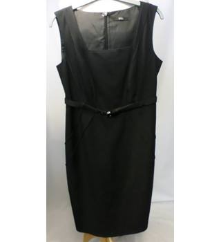M&S - Size: 12 - Dark Charcoal Grey Dress