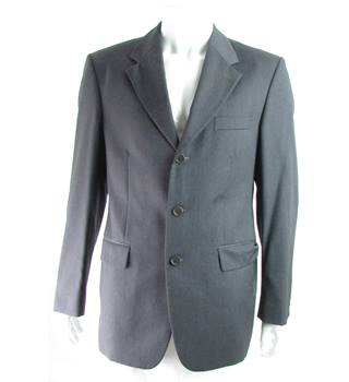 "Yves Saint Laurent - Size: 40"" - Charcoal Grey - 100% Wool - Single breasted suit jacket"