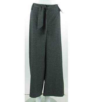 BNWT Evans - Size: 22 Short - Grey - Wide Leg with Tie Belt Trousers