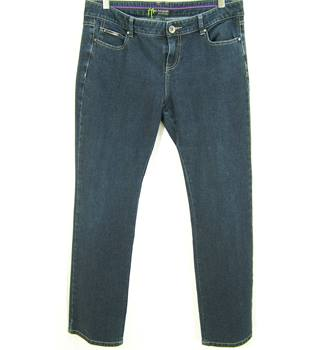 M&S Autograph Size: 16 Medium Blue Black Jeans