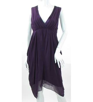 Phase Eight - Size: 12 - Purple Silk - Knee length dress