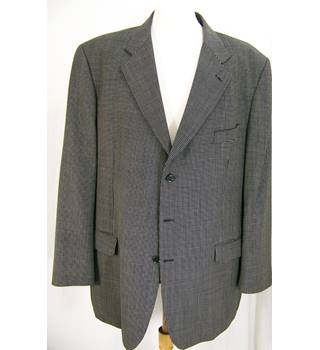 M&S Marks & Spencer - Size: 46L - Black - Single breasted blazer