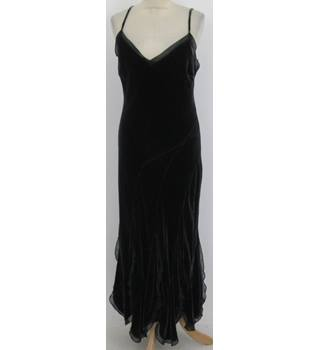 Per Una Size:14 grey velvet evening dress
