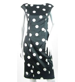 Coast - Size: 10 - Black With Large White Polka dots - Sleeveless Dress