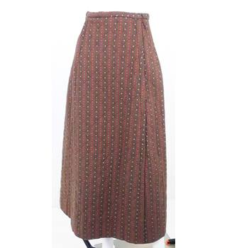 VINTAGE 70's/80's Lilly Whites Size 10 Brown Long Skirt