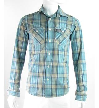 Superdry - Size: S - Blue/Yellow/White - Long sleeved shirt