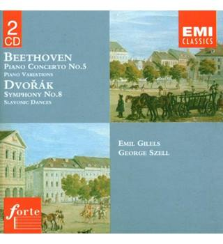 Beethoven: Piano Concerto No.5 & Variations - Dvorak: Symphony No.8 & Slavonic Dances - Emil Gilels, George Szell