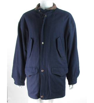 Vintage - Westbury by C&A - Size: L - Navy Blue/Black/Brown - Wool Mix - Casual jacket / coat