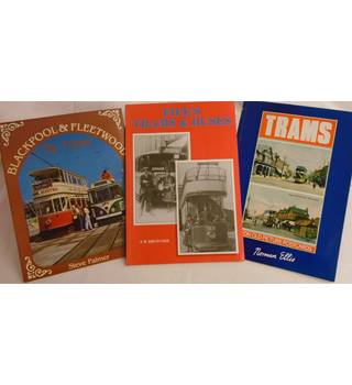 Trams (a miscellaneous set of 3 books) Fife, Blackpool & Postcards