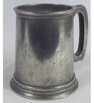 Birks Glass Bottomed Pewter Tankard Birks