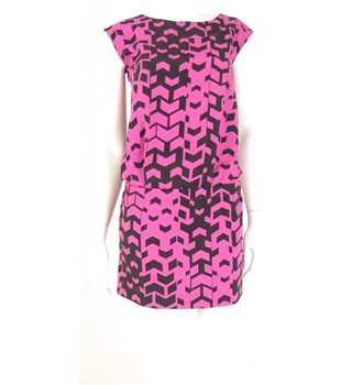 M&S Limited Edition - Size 6 - Black and Pink - Elasticated Waist Dress