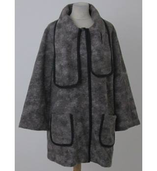 Paul Costelloe: Size 18:  Grey wool mix blanket coat