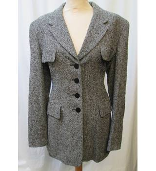 Windsmoor - Size: 14 - Black and White Patterned Smart Jacket