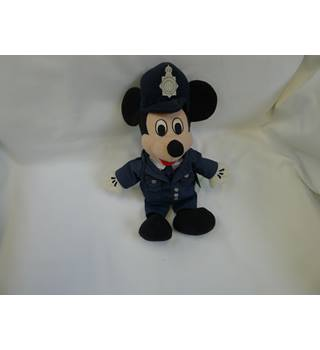 Disney Mickey Mouse Policeman beanie  soft toy Disney