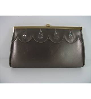 Gina of London Pearlescent Mink Leather Clutch Bag