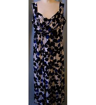 Colebrook by Windsmoor size:14 white with black and blue floral dress