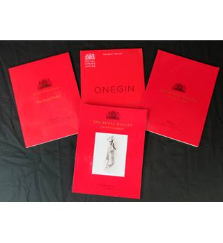 4 programmes from the royal opera house, Covent Garden as new 2002-2013.