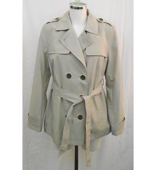 BNWOT M&S beige short trenchcoat Size 14