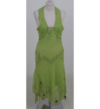 Just Cavalli by Roberto Cavalli - Size: 14 - Green - Halter-neck Dress