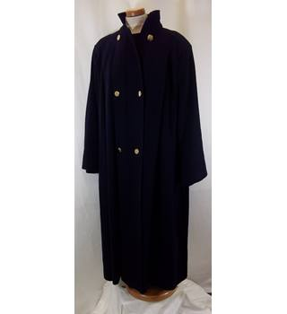 MaxMara - Size: 8 UK, 38 IT, 36 FR, - Navy Blue - Smart Coat