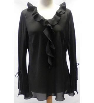 For Women size: 16 black sheer blouse