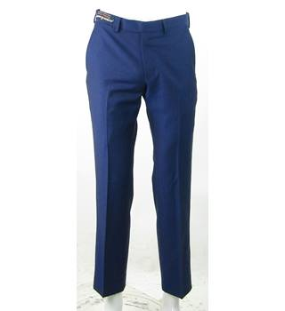"BNWOT - M&S Marks & Spencer (Autograph) - Size: 30""/33"" - Blue - 100% Wool Trousers"