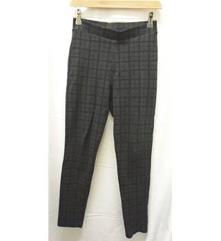 M&S Marks & Spencer - Size: XS - Charcoal Grey/Caramel checks - Jeggings / stretch trousers