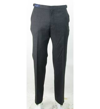 "BNWOT - M&S Marks & Spencer (Autograph) - Size: 40""/29"" - Grey - 100% Wool Trousers"
