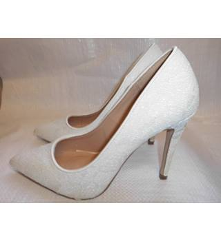 Ladies shoe Schuh - Size: 4 - Cream / ivory - Court shoes