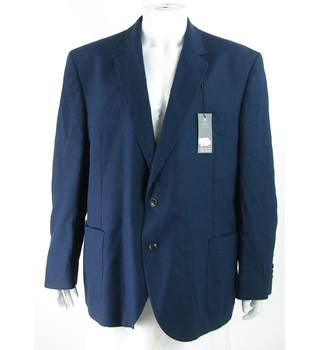 "BNWOT - M&S Marks & Spencer - Size: 52"" - Blue - Linen Mix Single breasted suit jacket"