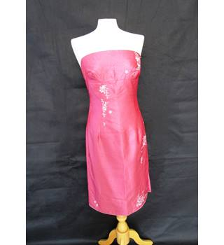 Strapless dress with detailing - Oasis - Size: 12 - Pink - Boob tube