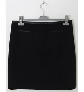 Marks & Spencer Collection Black Wool Mini Skirt UK Size 14 / Euro Size 42