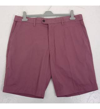 "M & S Size: L, 38"" W, 9"" L Raspberry Red Casual/Fun Pure Cotton Shorts With Active Waist"